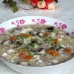 香菇肉糜豆腐羹