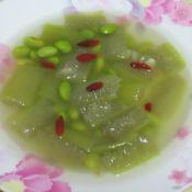 丝瓜枸杞毛豆汤