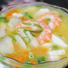 鲜菱虾仁豆腐汤