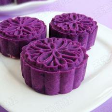 紫薯芸豆月饼