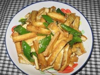 尖椒炒豆干的做法