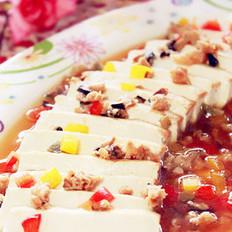 彩蔬肉末蒸豆腐