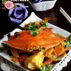 梭子蟹炖南瓜