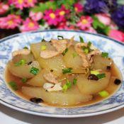 豆豉肉片烧冬瓜