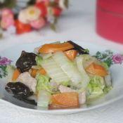黄芽菜黑木耳炒肉片