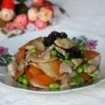 杏鲍菇肉片炒毛豆