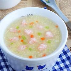 小米蝦滑粥