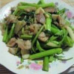 肉炒空心菜