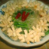 小白菜鱼丸炖粉条