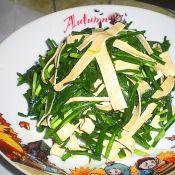 韭菜炒百叶丝