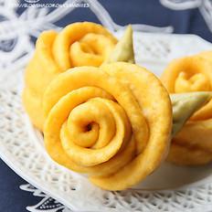 燕麦玫瑰花卷