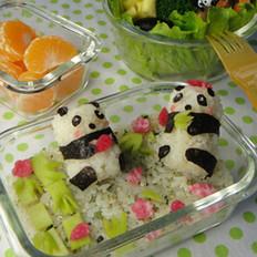 可爱熊猫便当