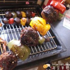 串烤牛肉丸