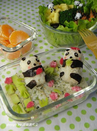 可爱熊猫便当的做法