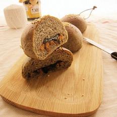 三黑芝蔴肉松包