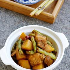 土豆五花肉炖豆角