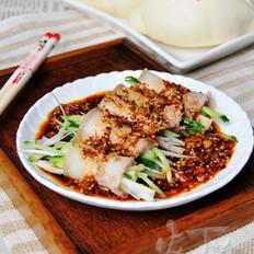 蒜泥白肉蔬菜卷