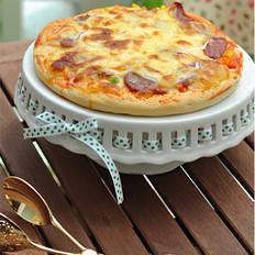 无边熏肠披萨