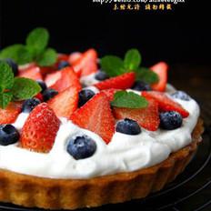 杏仁莓果挞