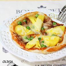 菠萝金枪鱼披萨