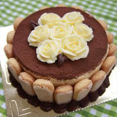裱花版提拉米苏蛋糕