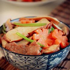 芹菜香干炒肉片