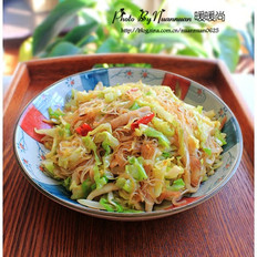 圓白菜炒粉絲