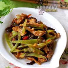 青笋炒肉丝