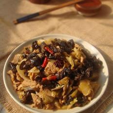 木耳白菜炒肉片