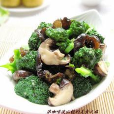 鲍汁菌菇西兰花