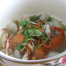 海蟹萝卜汤