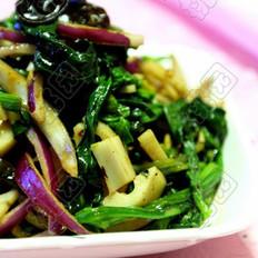豆豉菠菜凉拌藕