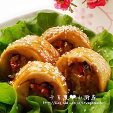 香菇糯米鸡肉卷
