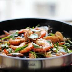 鱼头海鲜锅