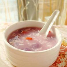 酒酿紫薯小丸子