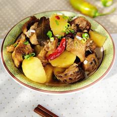 土豆花菇炖鸡块