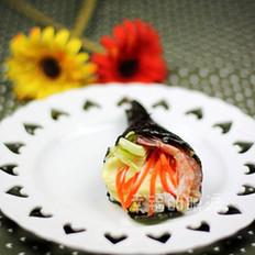 北极虾手卷寿司