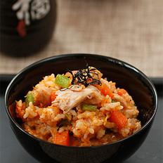 金枪鱼辣白菜炒饭