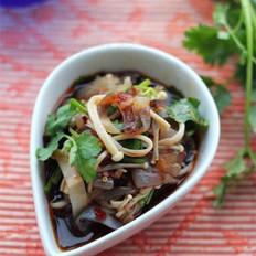 香辣金针菇拌蜇皮
