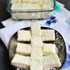 椰丝牛奶小方糕