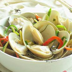 红椒炒蛤蜊