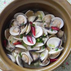 玫瑰露酒煮白蛤