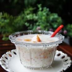 酸奶木瓜西米露