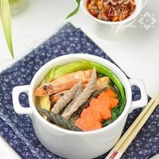 鲜虾杂粮面鱼汤