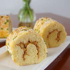 肉松香葱面包卷