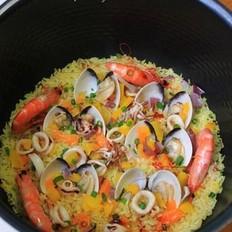 咖喱小海鲜饭
