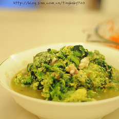 海鲜菠菜汆蛋 的做法