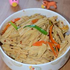 豆豉红椒炒腐竹