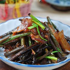 腊肉炒蕨菜