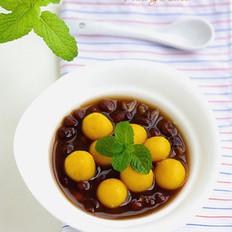 南瓜圆子红豆汤